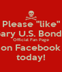 """Please """"like"""" Gary U.S. Bonds' Official Fan Page on Facebook today! - Personalised Poster A4 size"""