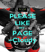 PLEASE LIKE MY  PAGE ~Cloudy - Personalised Poster A4 size