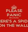 PLEASE PANIC BECAUSE THERE'S A SPIDER ON THE WALL! - Personalised Poster A4 size