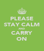 PLEASE STAY CALM AND CARRY ON - Personalised Poster A4 size