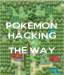 POKEMON HACKING IS THE WAY  - Personalised Poster A4 size