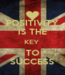 POSITIVITY IS THE KEY  TO SUCCESS - Personalised Poster A4 size