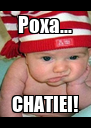 Poxa... CHATIEI! - Personalised Poster A4 size