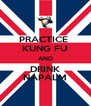 PRACTICE  KUNG FU AND DRINK NAPALM - Personalised Poster A4 size