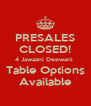 PRESALES CLOSED! 4 Jawaani Deewani  Table Options Available - Personalised Poster A4 size