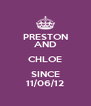PRESTON AND CHLOE SINCE 11/06/12 - Personalised Poster A4 size