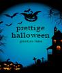 prettige halloween groetjes luna   - Personalised Poster A4 size