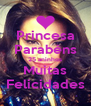 Princesa Parabéns 25 aninhos Muitas Felicidades - Personalised Poster A4 size