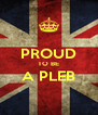 PROUD TO BE A PLEB  - Personalised Poster A4 size