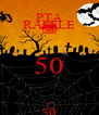 PTA RAFFLE 50 / 50 - Personalised Poster A4 size