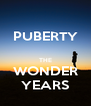 PUBERTY  THE WONDER YEARS - Personalised Poster A4 size