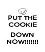 PUT THE COOKIE  DOWN NOW!!!!!!! - Personalised Poster A4 size