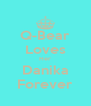 Q-Bear Loves Her Danika Forever - Personalised Poster A4 size