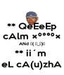 ** QeEeEp cAlm °°º× ANd ┌( ಠ_ಠ)┘ ** ii´m  eL cA(u)zhA - Personalised Poster A4 size