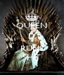 QUEEN D  RUNS SHIT - Personalised Poster A4 size