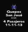 Quepos San José $120 4 Pasajeros 11-11-13 - Personalised Poster A4 size