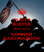 QUOTA BUSTER MAY 2015 KONNAR KAIO-MADDOX - Personalised Poster A4 size