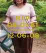R.I.P 08-01-61 MISSING YOU 12-06-08  - Personalised Poster A4 size