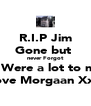 R.I.P Jim Gone but  never Forgot U Were a lot to me Love Morgaan XxX - Personalised Poster A4 size