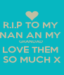 R.I.P TO MY  NAN AN MY  GRANDAD  LOVE THEM  SO MUCH X - Personalised Poster A4 size