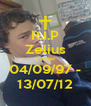 R.I.P Zelius Venter 04/09/97 - 13/07/12 - Personalised Poster A4 size