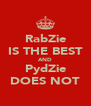 RabZie IS THE BEST AND PydZie DOES NOT - Personalised Poster A4 size