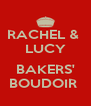 RACHEL &  LUCY  BAKERS' BOUDOIR  - Personalised Poster A4 size
