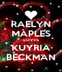 RAELYN MAPLES LOVES KUYRIA BECKMAN - Personalised Poster A4 size