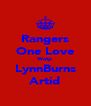 Rangers One Love Watp LynnBurns Artid - Personalised Poster A4 size
