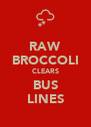 RAW BROCCOLI CLEARS BUS LINES - Personalised Poster A4 size