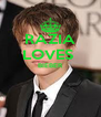RAZIA LOVES  BIEBER   - Personalised Poster A4 size