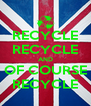 RECYCLE RECYCLE AND OF COURSE RECYCLE - Personalised Poster A4 size