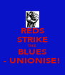 REDS STRIKE THE BLUES - UNIONISE! - Personalised Poster A4 size