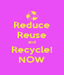 Reduce Reuse and Recycle! NOW - Personalised Poster A4 size