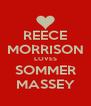 REECE MORRISON LOVES SOMMER MASSEY - Personalised Poster A4 size