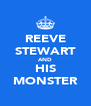REEVE STEWART AND HIS MONSTER - Personalised Poster A4 size