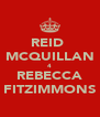 REID  MCQUILLAN 4 REBECCA FITZIMMONS - Personalised Poster A4 size