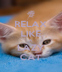 RELAX LIKE A LAZY CAT - Personalised Poster A4 size