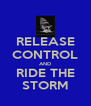 RELEASE CONTROL AND RIDE THE STORM - Personalised Poster A4 size