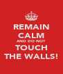 REMAIN CALM AND DO NOT TOUCH THE WALLS! - Personalised Poster A4 size