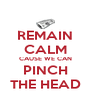 REMAIN CALM CAUSE WE CAN PINCH THE HEAD - Personalised Poster A4 size
