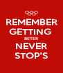 REMEMBER  GETTING  BETER NEVER STOP'S - Personalised Poster A4 size