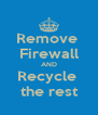 Remove  Firewall AND Recycle  the rest - Personalised Poster A4 size