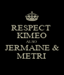 RESPECT  KIMEO ALSO JERMAINE & METRI - Personalised Poster A4 size