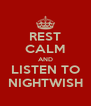 REST CALM AND LISTEN TO NIGHTWISH - Personalised Poster A4 size