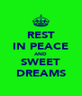 REST IN PEACE AND SWEET DREAMS - Personalised Poster A4 size