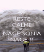 RESTE CALME ET... NAGE SONIA NAGE !! - Personalised Poster A4 size
