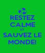 RESTEZ CALME ET SAUVEZ LE MONDE! - Personalised Poster A4 size