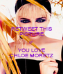 RETWEET THIS PICTURE IF YOU LOVE CHLOE MORETZ - Personalised Poster A4 size