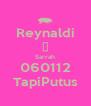 Reynaldi ❤ Sarrah 060112 TapiPutus - Personalised Poster A4 size